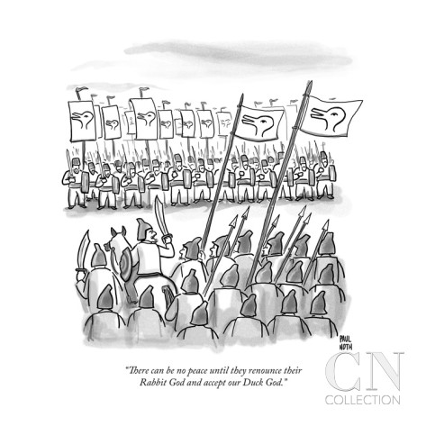 Paul Noth's Duck Gods vs Rabbit Gods war