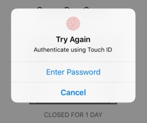 Touch ID prompt