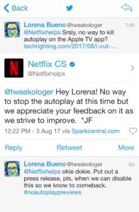 conversation with netflix, indicating autoplay lives